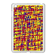 Red, yellow and blue pattern Apple iPad Mini Case (White)