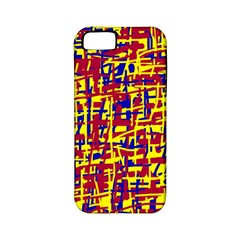 Red, yellow and blue pattern Apple iPhone 5 Classic Hardshell Case (PC+Silicone)