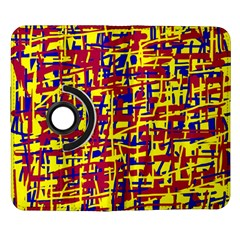 Red, yellow and blue pattern Samsung Galaxy Note II Flip 360 Case