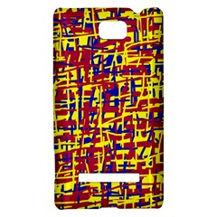 Red, yellow and blue pattern HTC 8S Hardshell Case