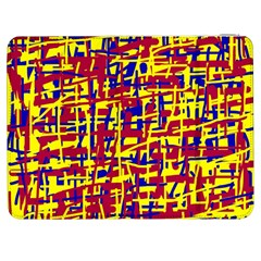 Red, yellow and blue pattern Samsung Galaxy Tab 7  P1000 Flip Case