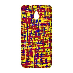 Red, yellow and blue pattern HTC One Mini (601e) M4 Hardshell Case