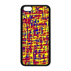Red, yellow and blue pattern Apple iPhone 5C Seamless Case (Black)