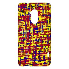 Red, yellow and blue pattern HTC One Max (T6) Hardshell Case