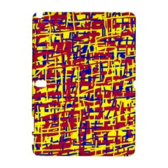 Red, yellow and blue pattern Samsung Galaxy Note 10.1 (P600) Hardshell Case