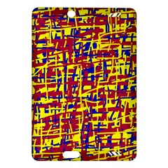 Red, yellow and blue pattern Amazon Kindle Fire HD (2013) Hardshell Case