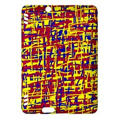 Red, yellow and blue pattern Kindle Fire HDX Hardshell Case