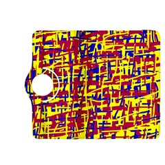 Red, yellow and blue pattern Kindle Fire HDX 8.9  Flip 360 Case