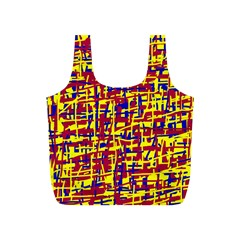 Red, yellow and blue pattern Full Print Recycle Bags (S)