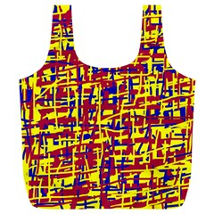 Red, yellow and blue pattern Full Print Recycle Bags (L)