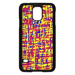 Red, yellow and blue pattern Samsung Galaxy S5 Case (Black)