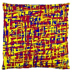 Red, yellow and blue pattern Standard Flano Cushion Case (One Side)