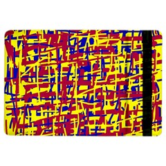 Red, yellow and blue pattern iPad Air 2 Flip