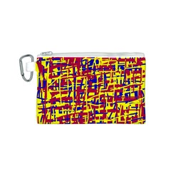 Red, yellow and blue pattern Canvas Cosmetic Bag (S)
