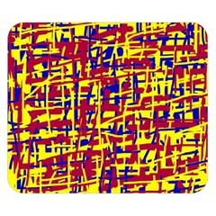 Red, yellow and blue pattern Double Sided Flano Blanket (Small)