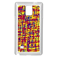 Red, yellow and blue pattern Samsung Galaxy Note 4 Case (White)