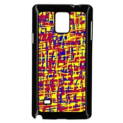 Red, yellow and blue pattern Samsung Galaxy Note 4 Case (Black)
