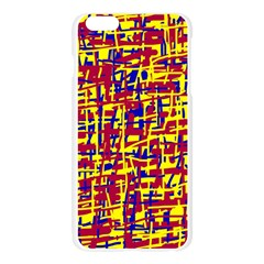 Red, yellow and blue pattern Apple Seamless iPhone 6 Plus/6S Plus Case (Transparent)