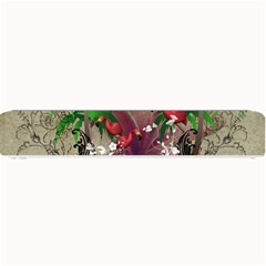 Wonderful Tropical Design With Palm And Flamingo Small Bar Mats