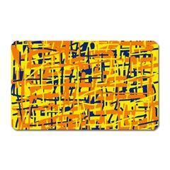 Yellow, orange and blue pattern Magnet (Rectangular)