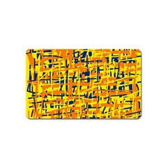 Yellow, orange and blue pattern Magnet (Name Card)