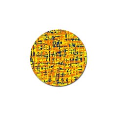 Yellow, orange and blue pattern Golf Ball Marker (10 pack)
