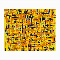 Yellow, orange and blue pattern Small Glasses Cloth (2-Side)