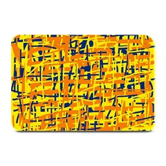 Yellow, orange and blue pattern Plate Mats