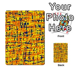 Yellow, orange and blue pattern Multi-purpose Cards (Rectangle)