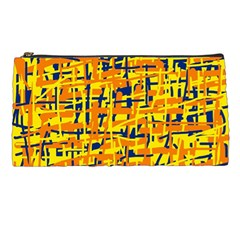 Yellow, orange and blue pattern Pencil Cases