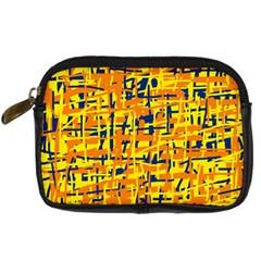 Yellow, orange and blue pattern Digital Camera Cases