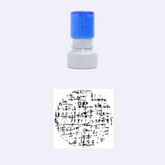Yellow, orange and blue pattern Rubber Round Stamps (Small)
