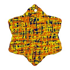 Yellow, orange and blue pattern Ornament (Snowflake)