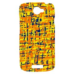 Yellow, orange and blue pattern HTC One S Hardshell Case