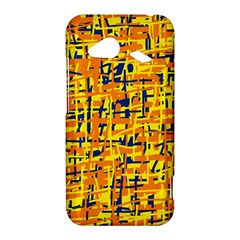 Yellow, orange and blue pattern HTC Droid Incredible 4G LTE Hardshell Case