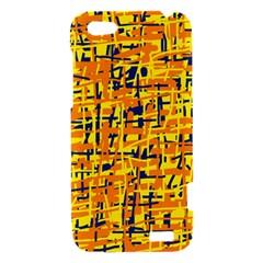 Yellow, orange and blue pattern HTC One V Hardshell Case