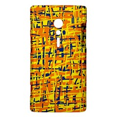 Yellow, orange and blue pattern Sony Xperia ion
