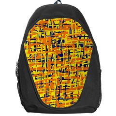 Yellow, orange and blue pattern Backpack Bag