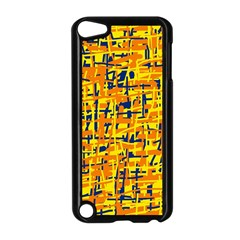 Yellow, orange and blue pattern Apple iPod Touch 5 Case (Black)