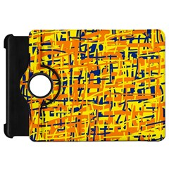 Yellow, orange and blue pattern Kindle Fire HD Flip 360 Case