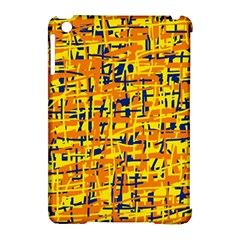 Yellow, orange and blue pattern Apple iPad Mini Hardshell Case (Compatible with Smart Cover)