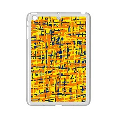 Yellow, orange and blue pattern iPad Mini 2 Enamel Coated Cases