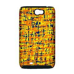 Yellow, orange and blue pattern Samsung Galaxy Note 2 Hardshell Case (PC+Silicone)
