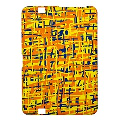 Yellow, orange and blue pattern Kindle Fire HD 8.9