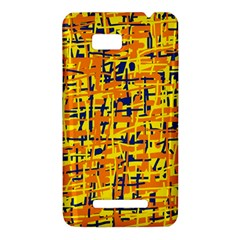 Yellow, orange and blue pattern HTC One SU T528W Hardshell Case
