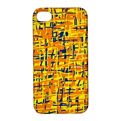 Yellow, orange and blue pattern Apple iPhone 4/4S Hardshell Case with Stand