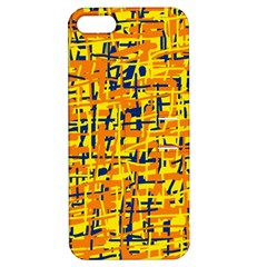 Yellow, Orange And Blue Pattern Apple Iphone 5 Hardshell Case With Stand