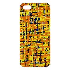 Yellow, orange and blue pattern Apple iPhone 5 Premium Hardshell Case