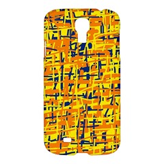 Yellow, orange and blue pattern Samsung Galaxy S4 I9500/I9505 Hardshell Case