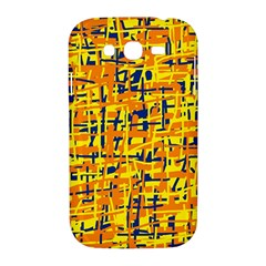 Yellow, orange and blue pattern Samsung Galaxy Grand DUOS I9082 Hardshell Case